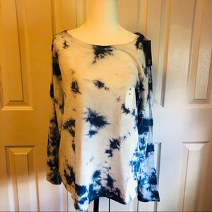 NWT GAP Blue Tie Dye Long Sleeve T-Shirt
